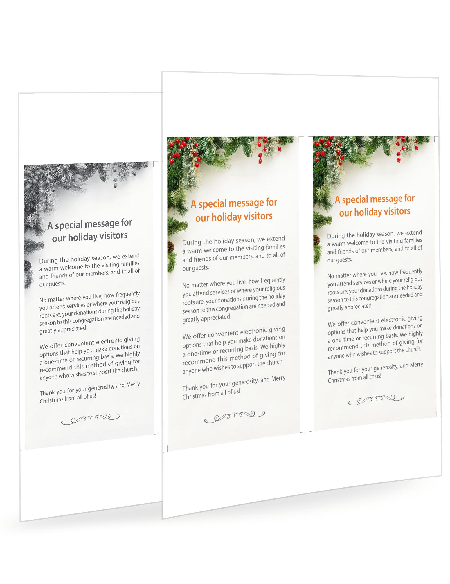 Christmas eGiving Messages