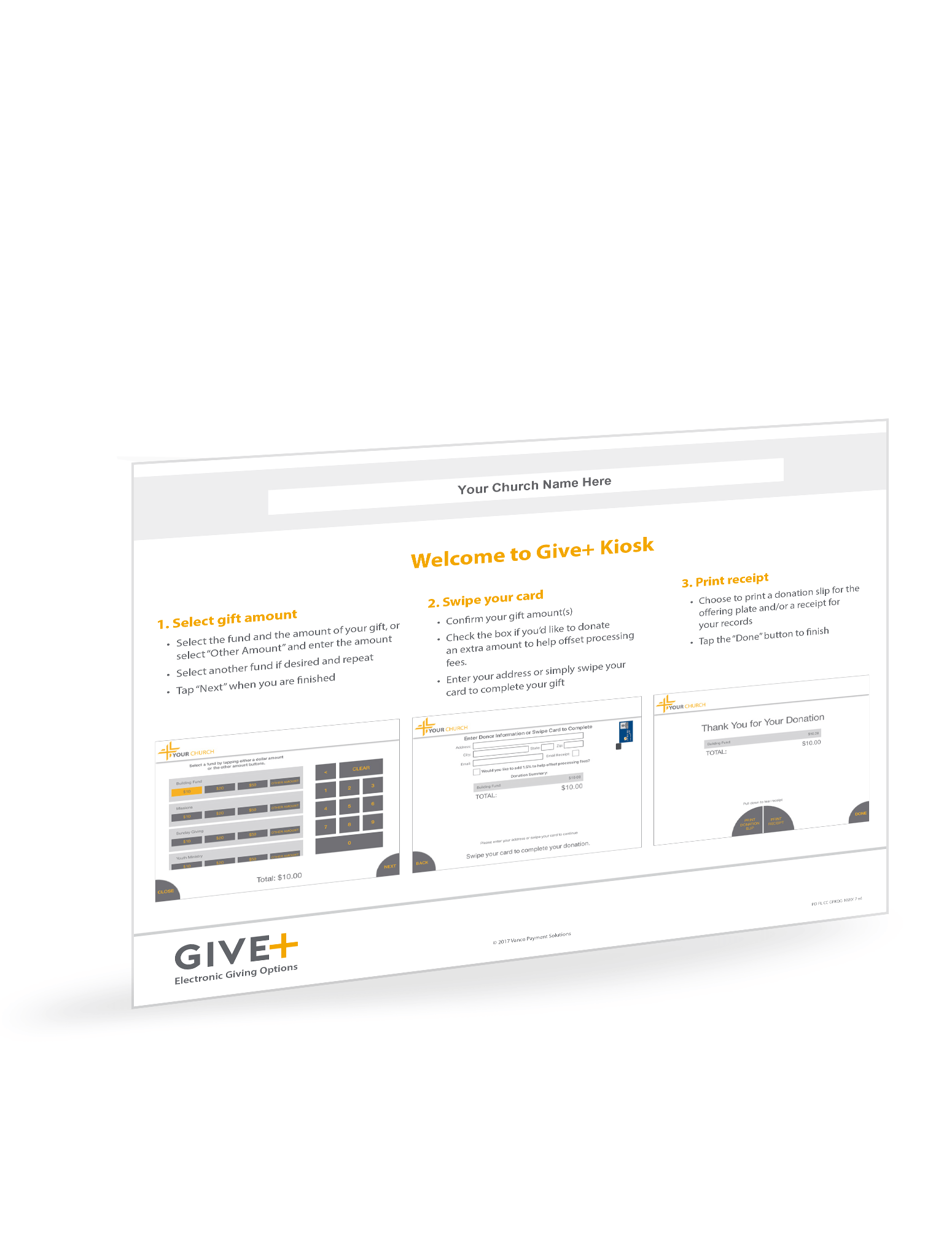 GivePlus Kiosk Quick Guide