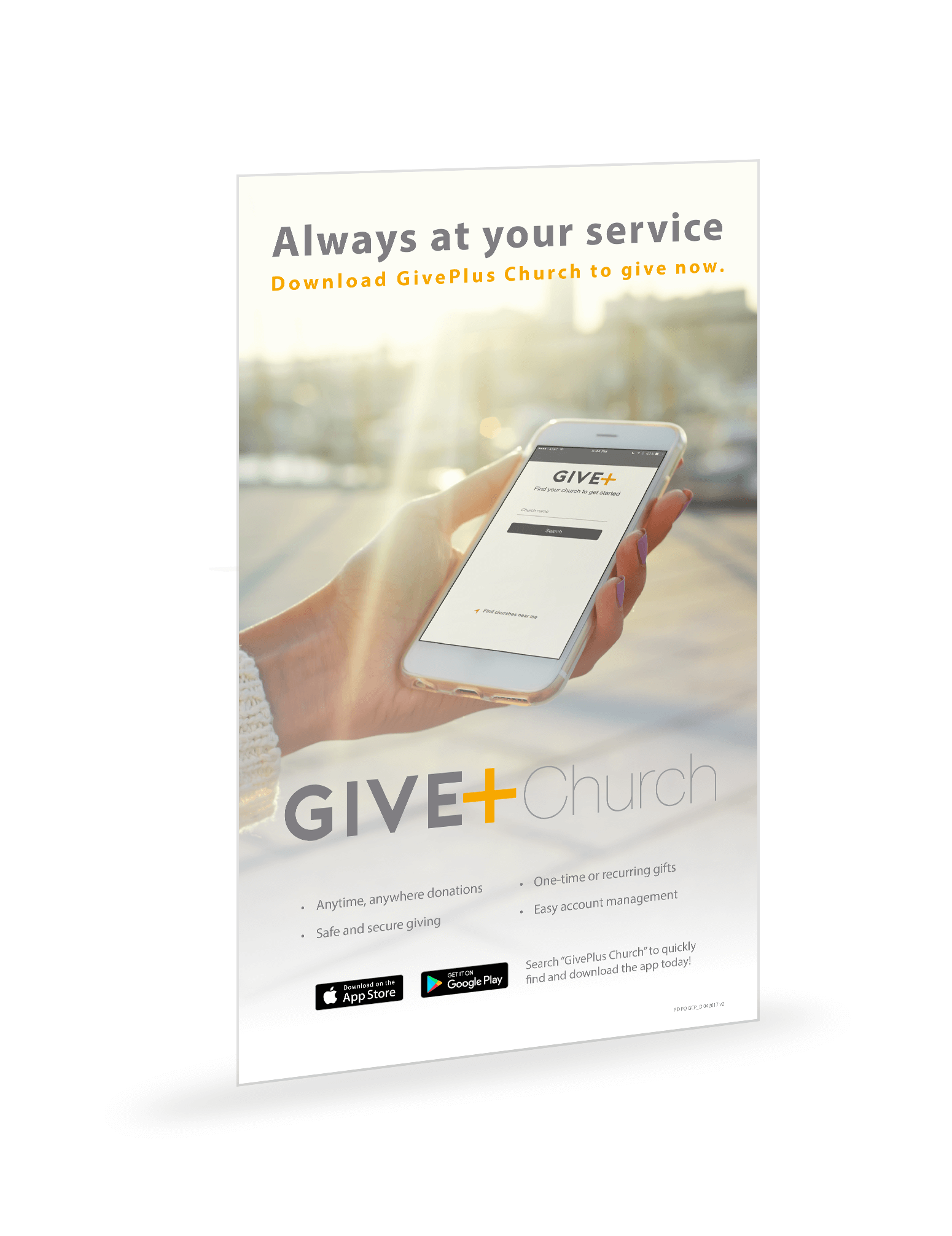 GivePlus Mobile 8.5x14 Poster