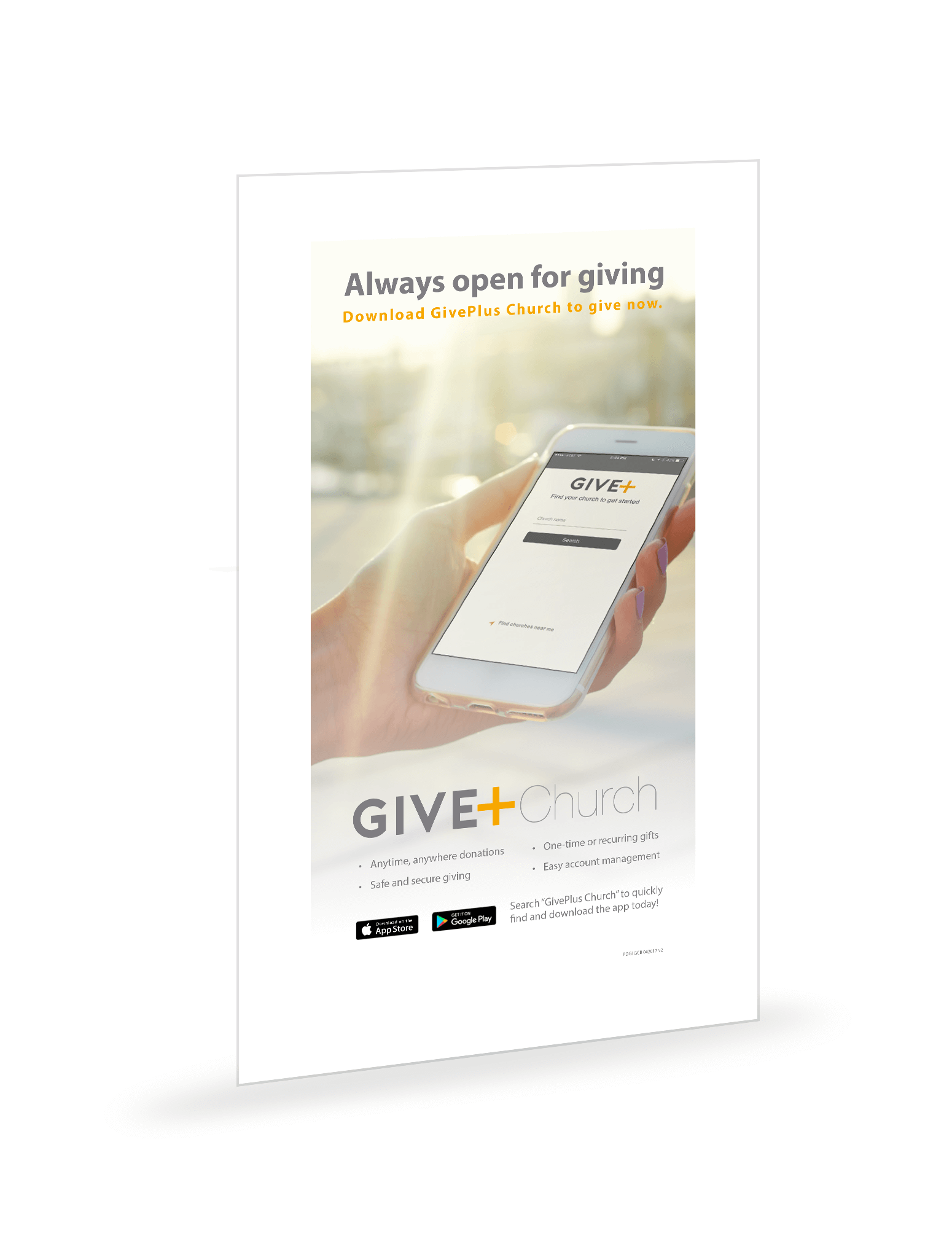 GivePlus Mobile Bulletin Insert