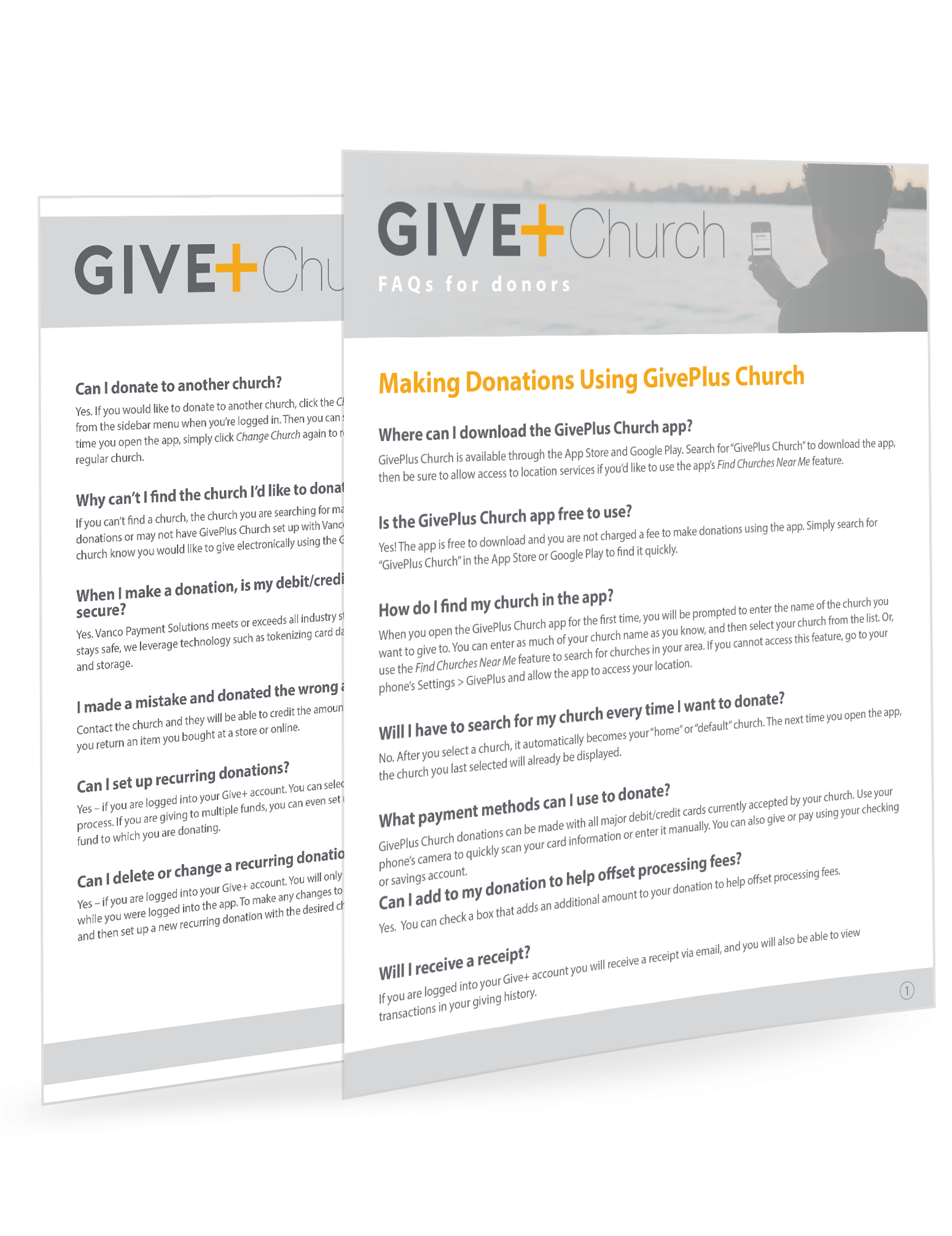 GivePlus Mobile FAQs for Donors