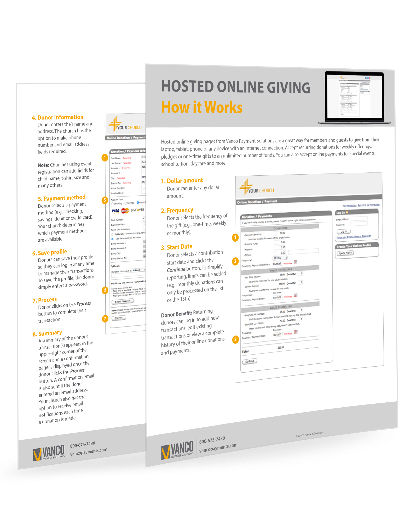 GivePlus Online Hosted - How It Works
