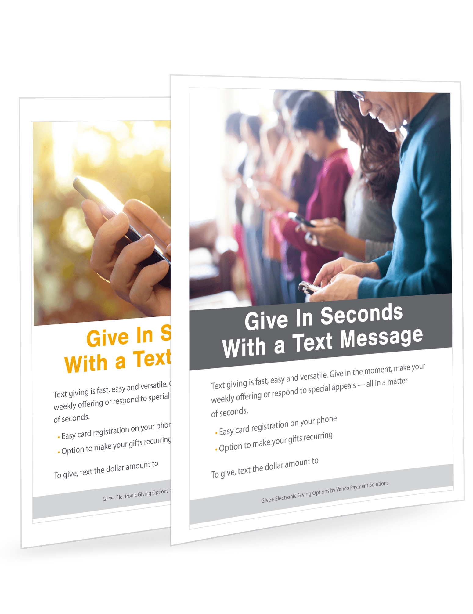 GivePlus Text Posters