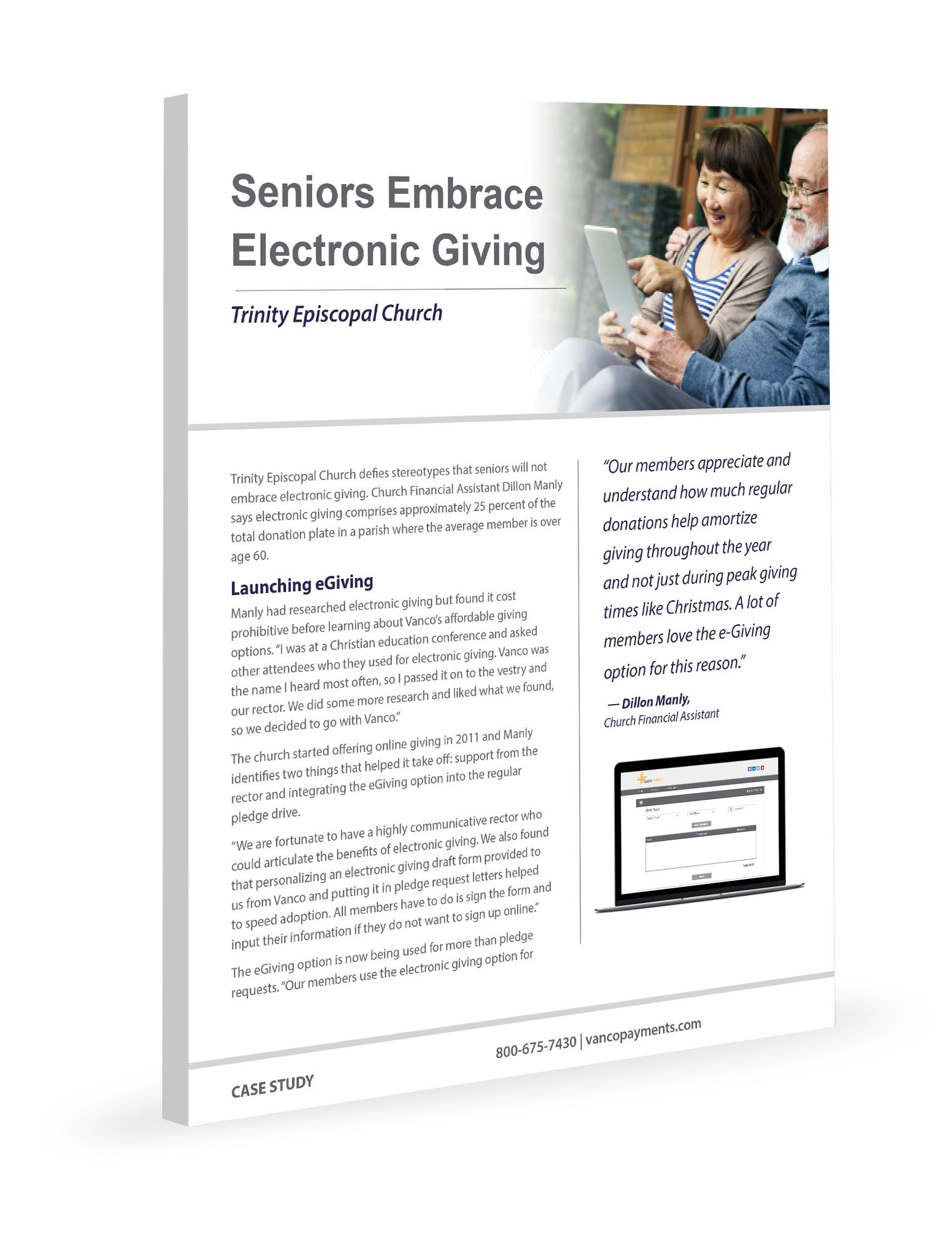 Seniors and eGiving