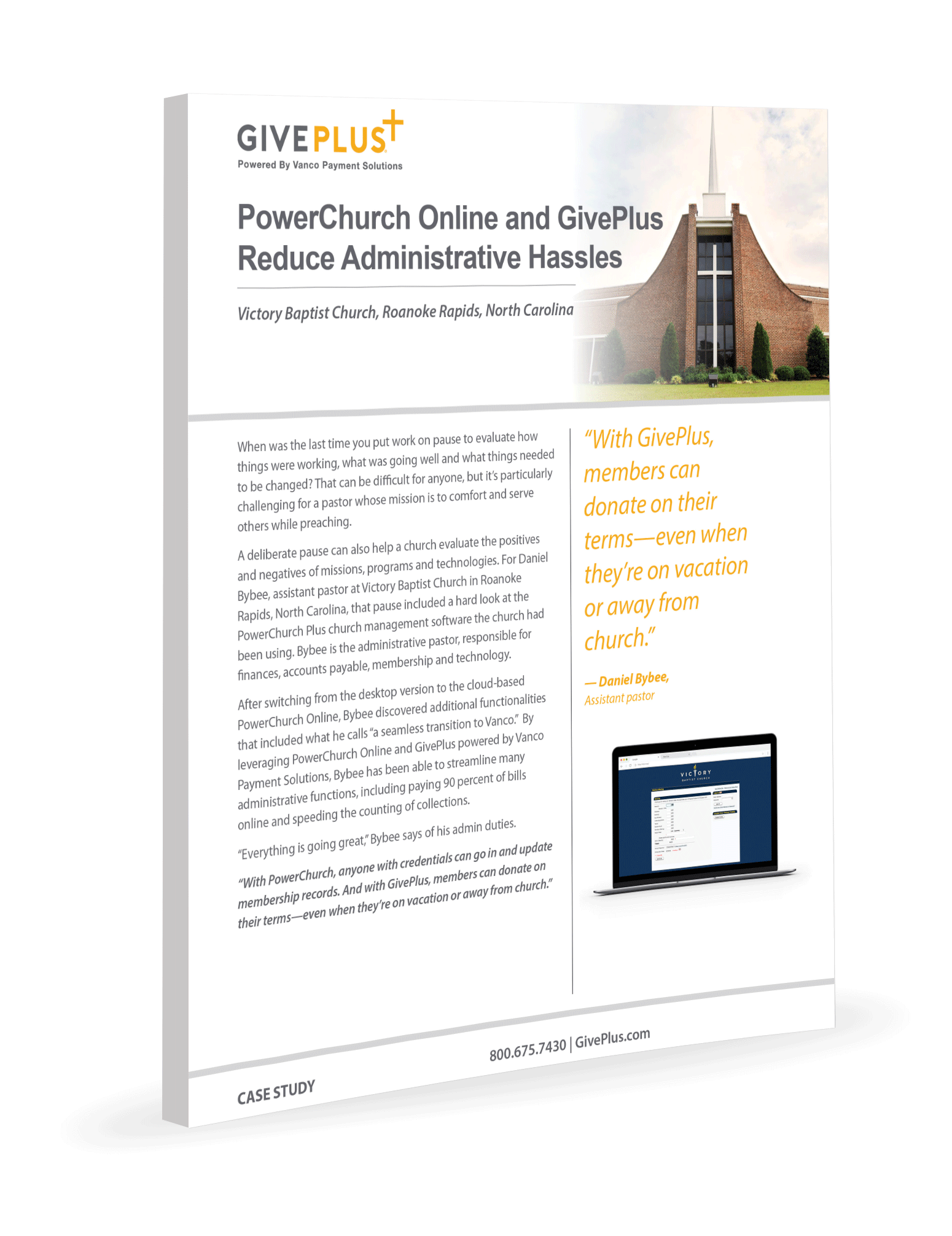 PowerChurch Online and GivePlus Reduce Administrative Hassles