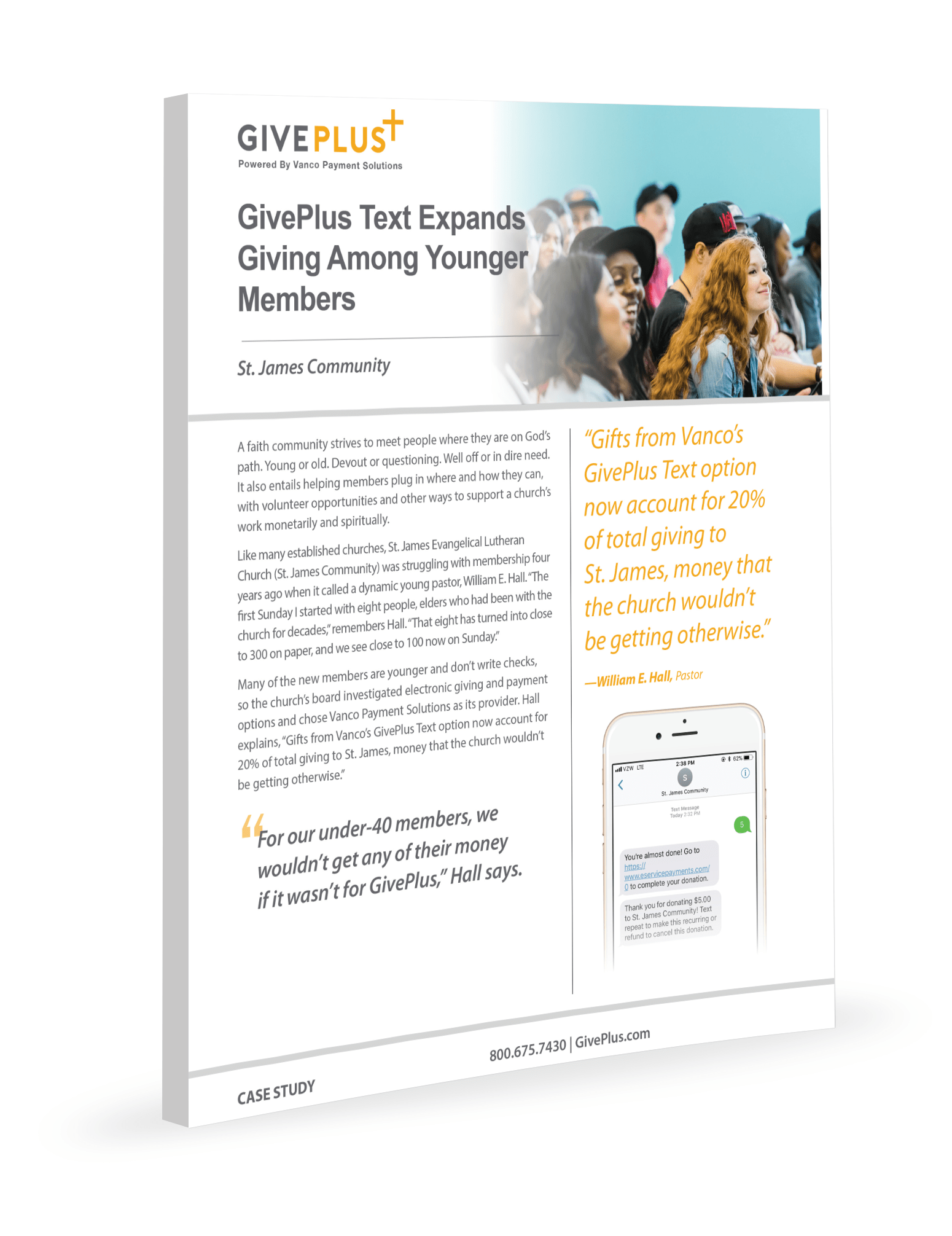 GivePlus Text Expands Giving Among Younger Members