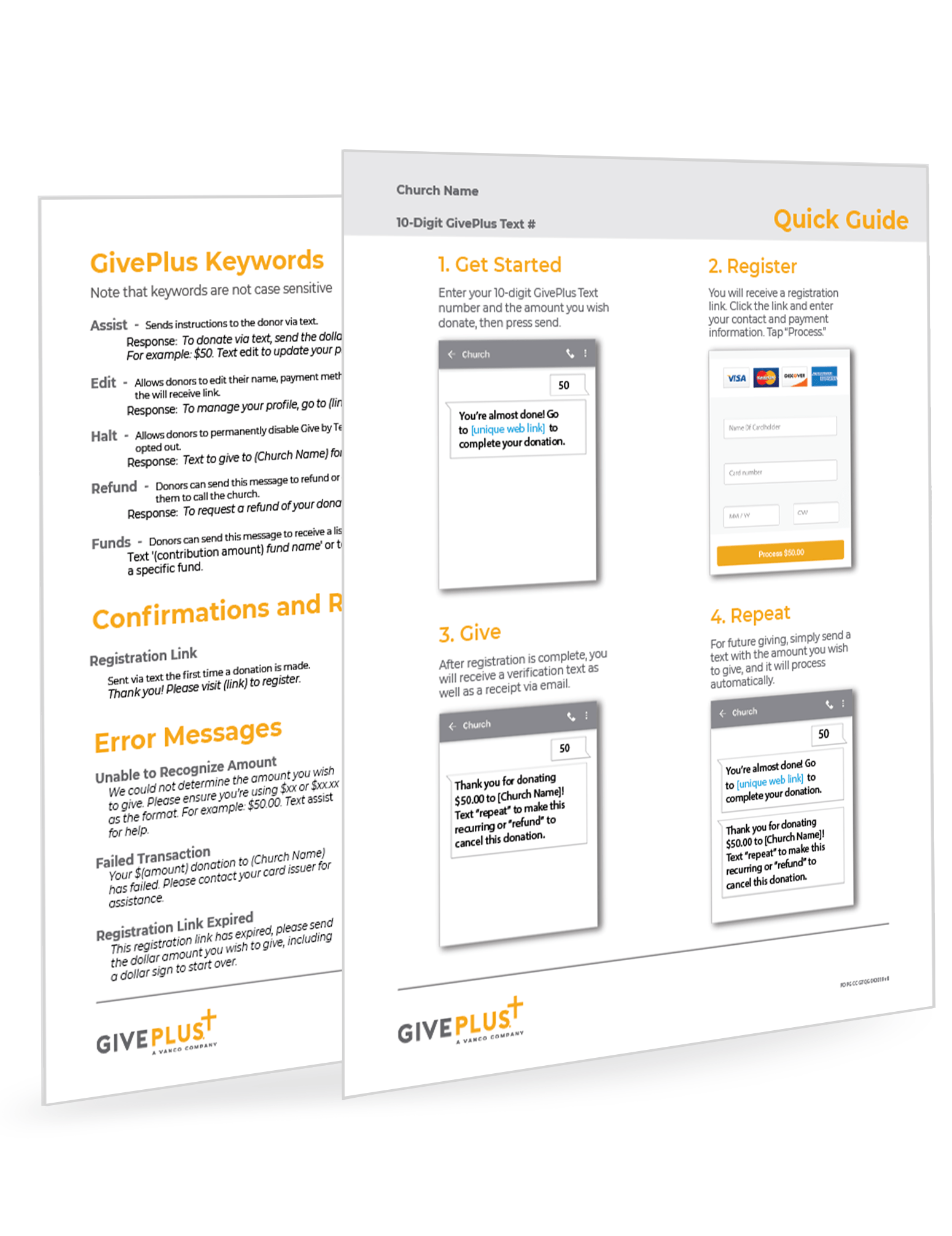 GivePlus Text Quick Guide